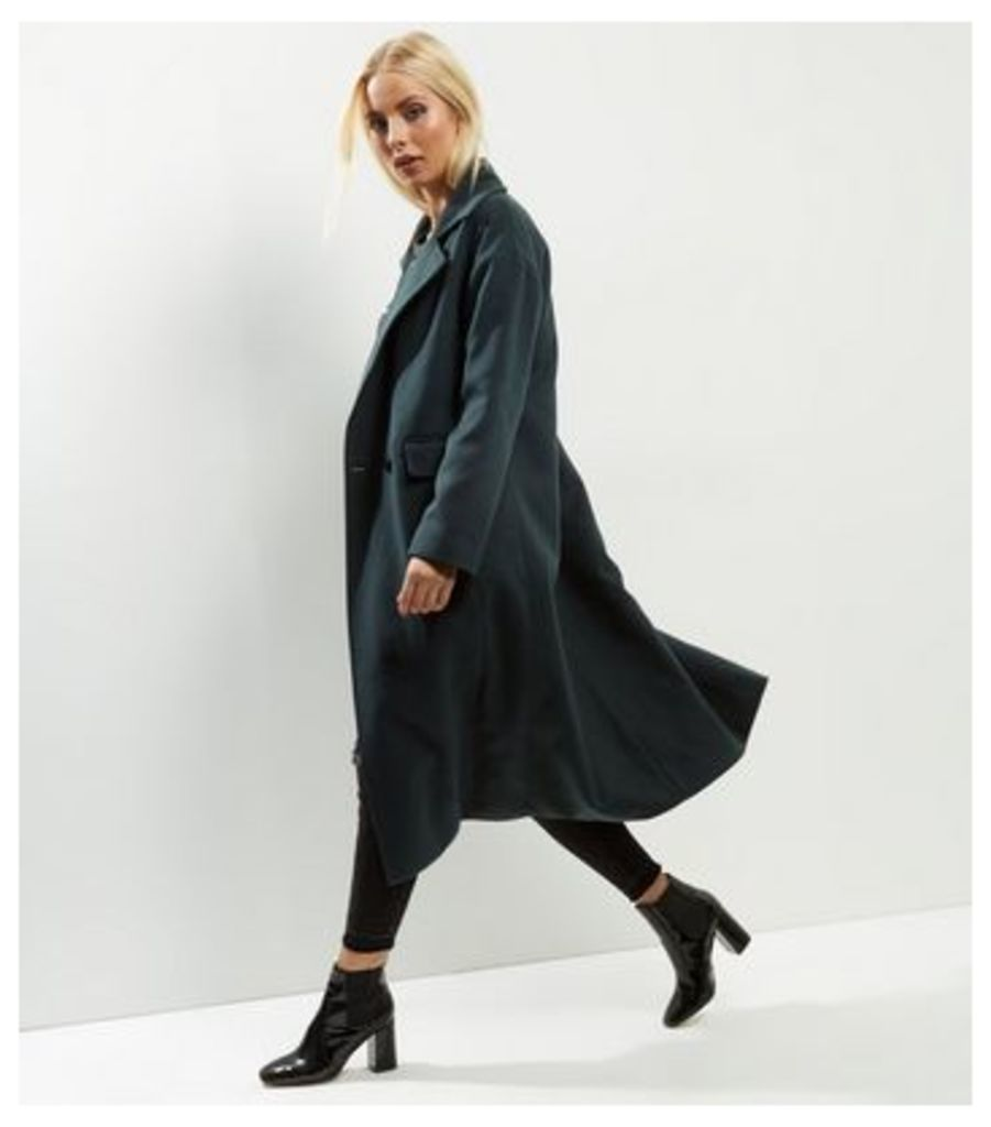 Anita and Green Dark Green Maxi Coat