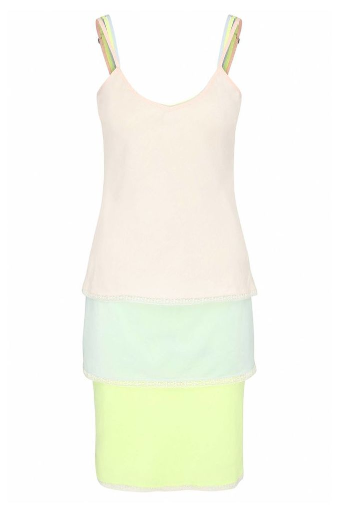 Relaxed-fit 3-in-1 strap dress in a cotton blend with silk: `Citour`
