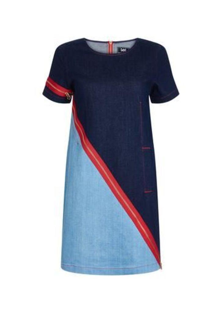 Zip Denim Dress