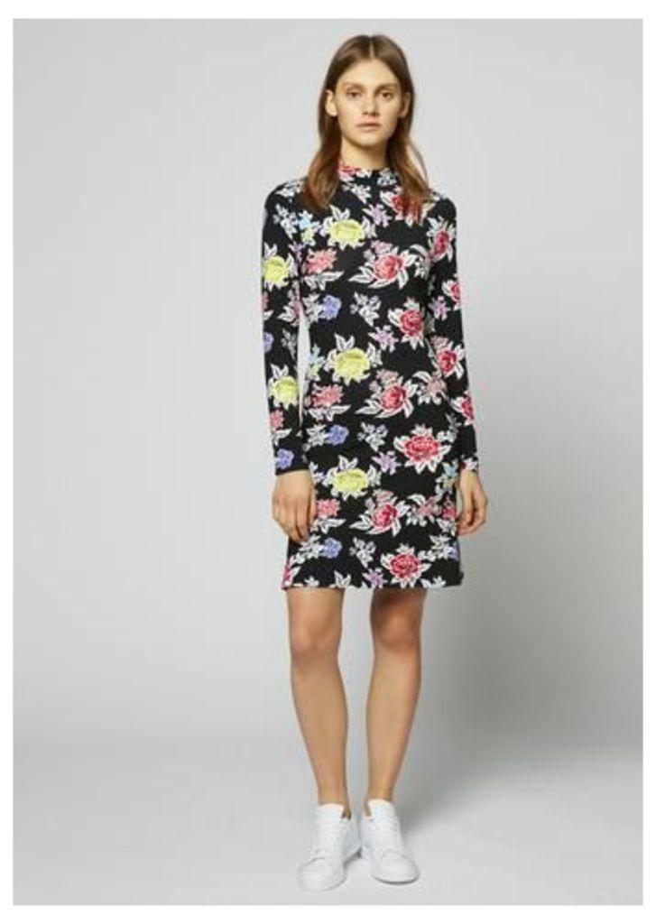 Rose Repeat Jersey Dress