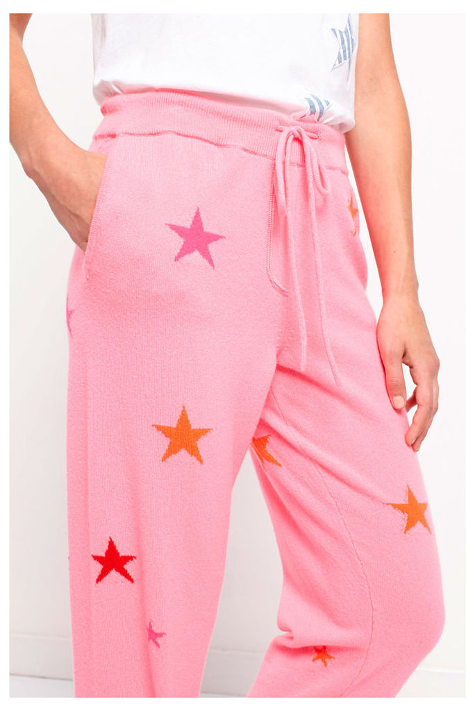 Pink Star Cashmere Track Pants