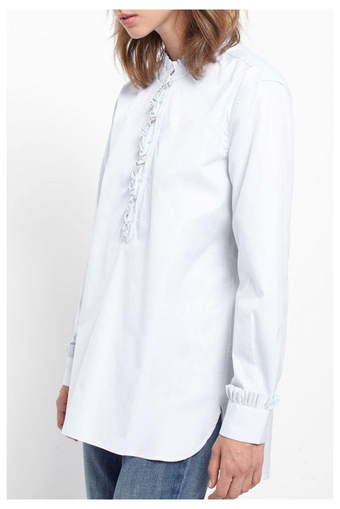 White Frill Tunic Shirt
