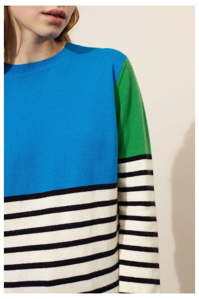 Blue Block Stripe Sweater