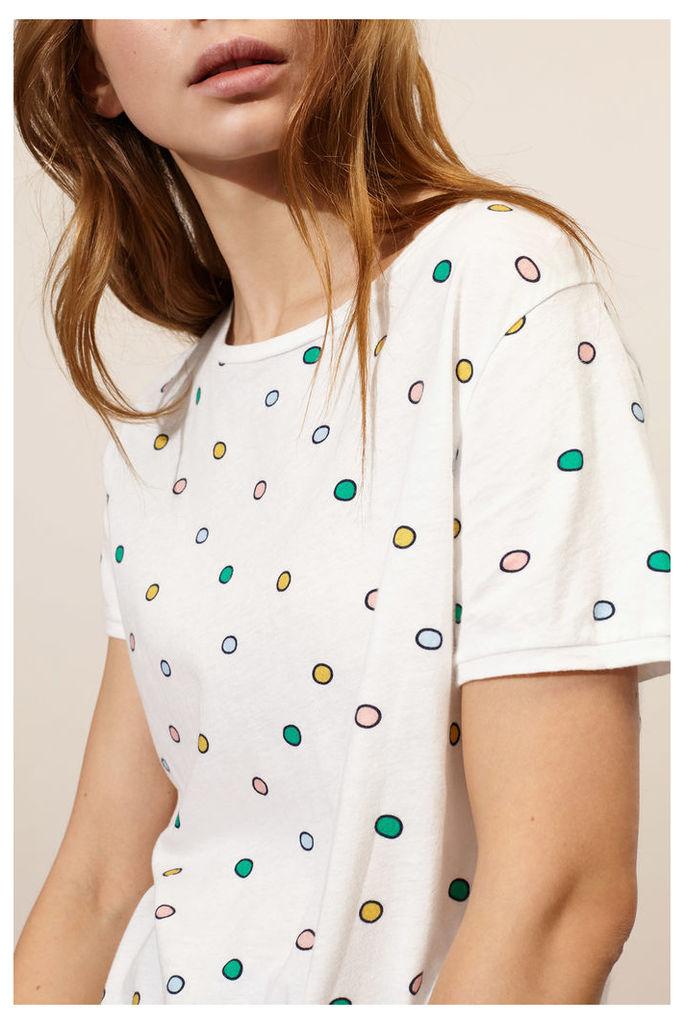 NEW White Rainbow Dot T-Shirt