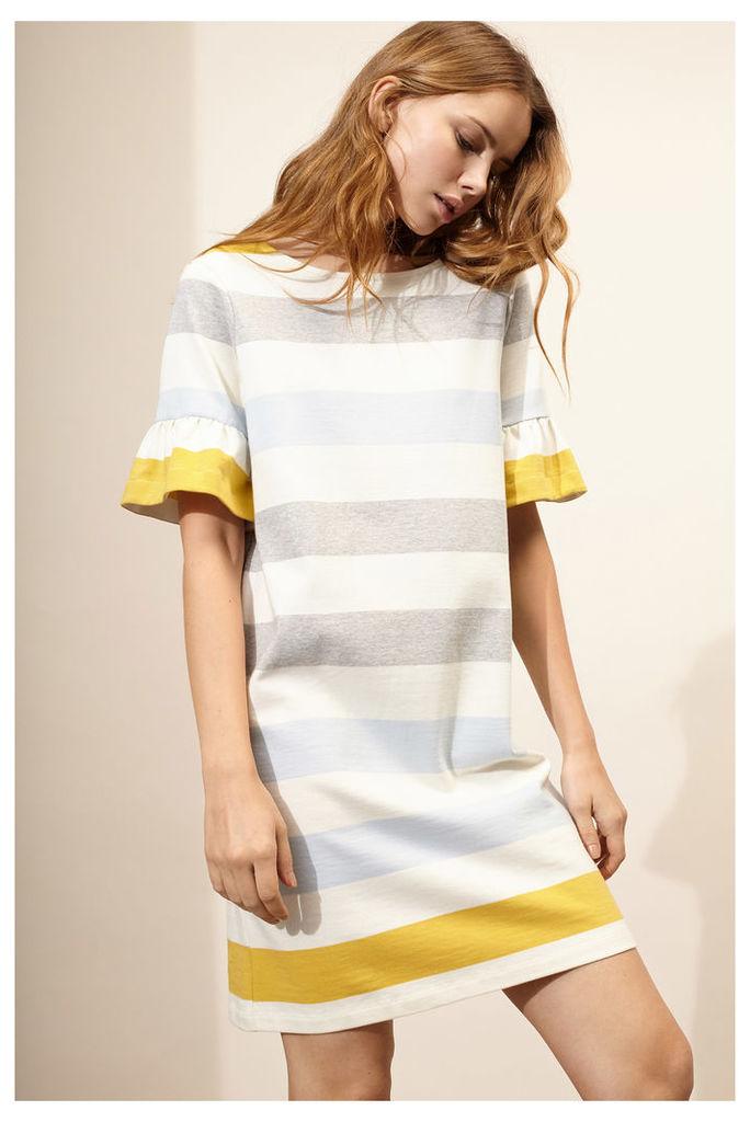 NEW Multi-Striped Bell Sleeve Shift Dress