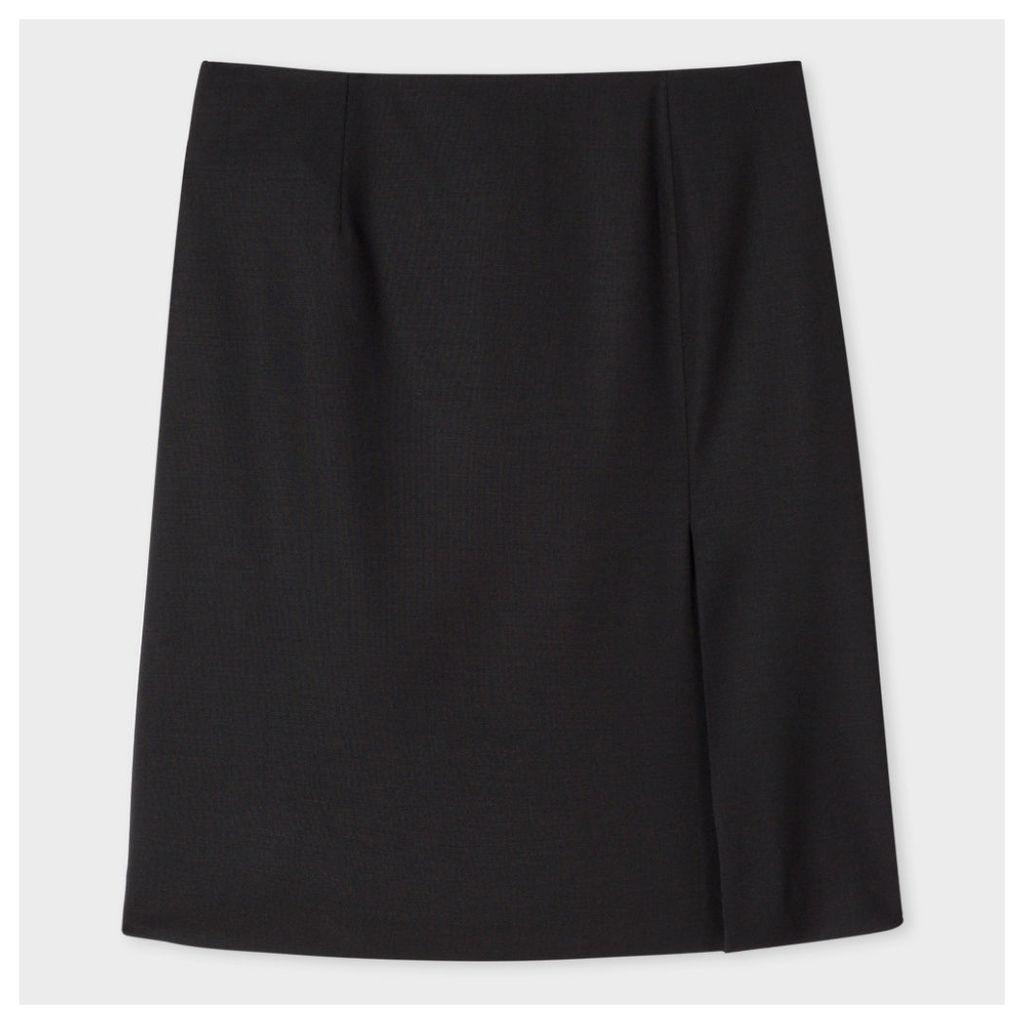 Women's Black Wool Skirt