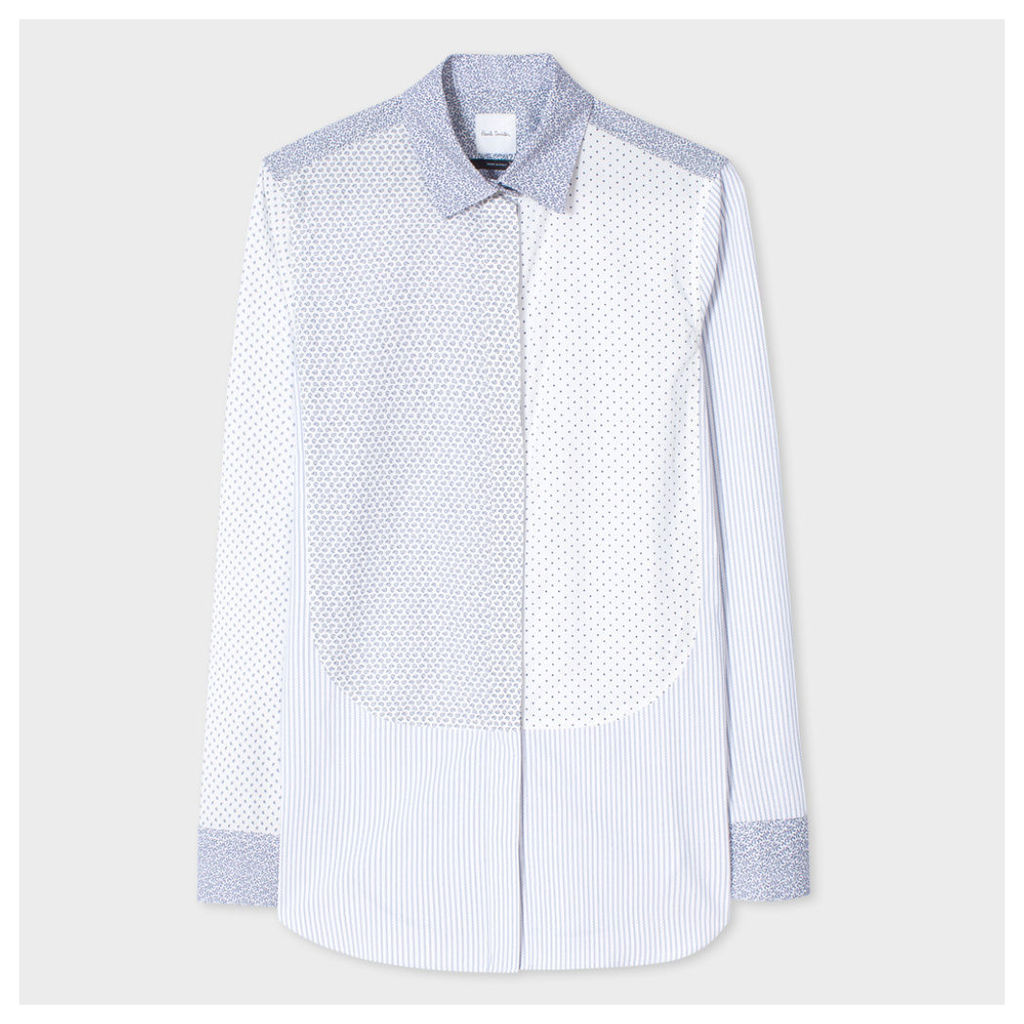 Women's Patchwork Cotton Shirt With Mixed 'Ditsy' Print