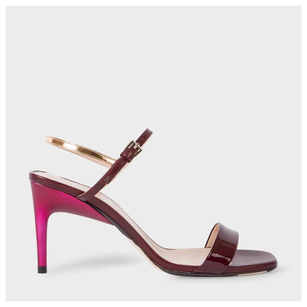 Women's Bordeaux Leather 'Nyla' Heeled Sandals