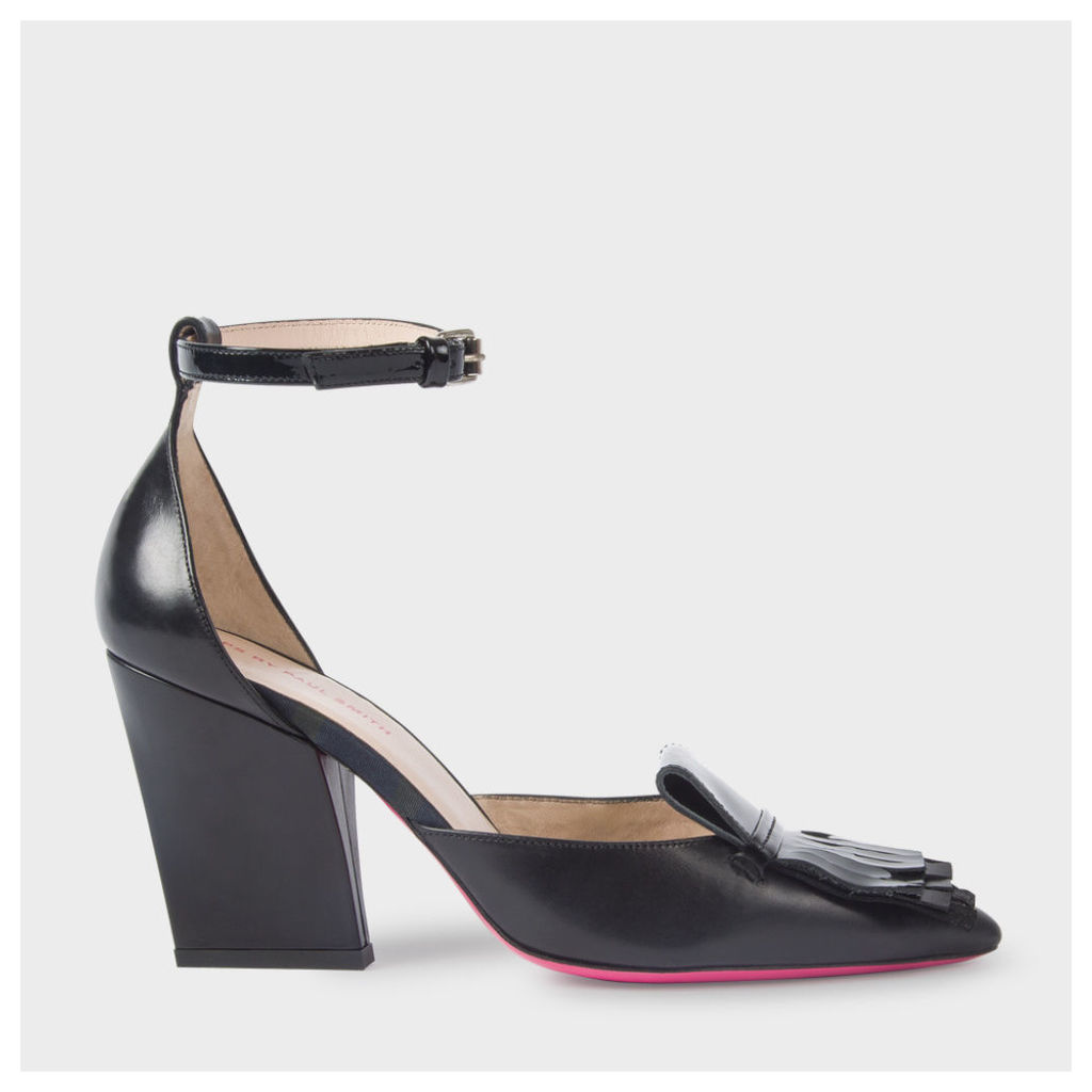 Women's Black Leather 'Perla' Shoes