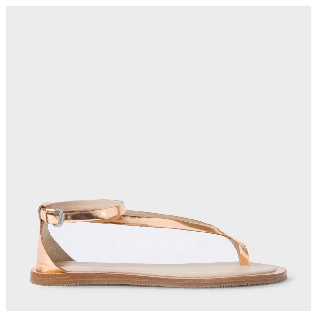 Women's Metallic Bronze Leather 'Lilja' Sandals