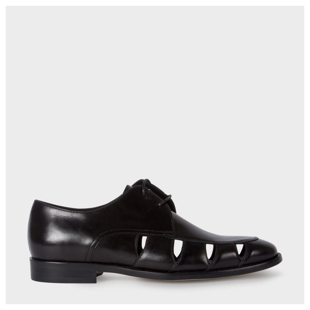 Women's Black Leather 'Rowan' Shoes With Cut-Out Detail