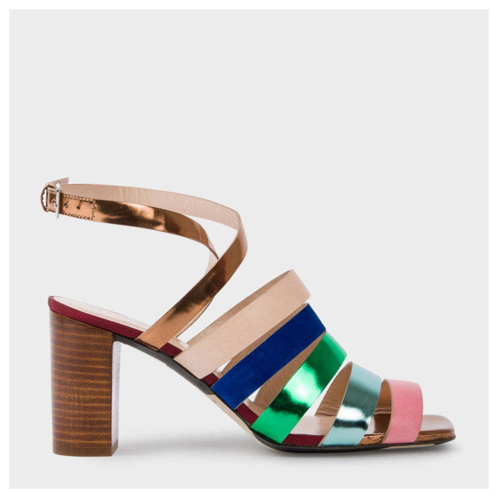 Women's Multi-Colour Leather 'Asa' Heeled Sandals