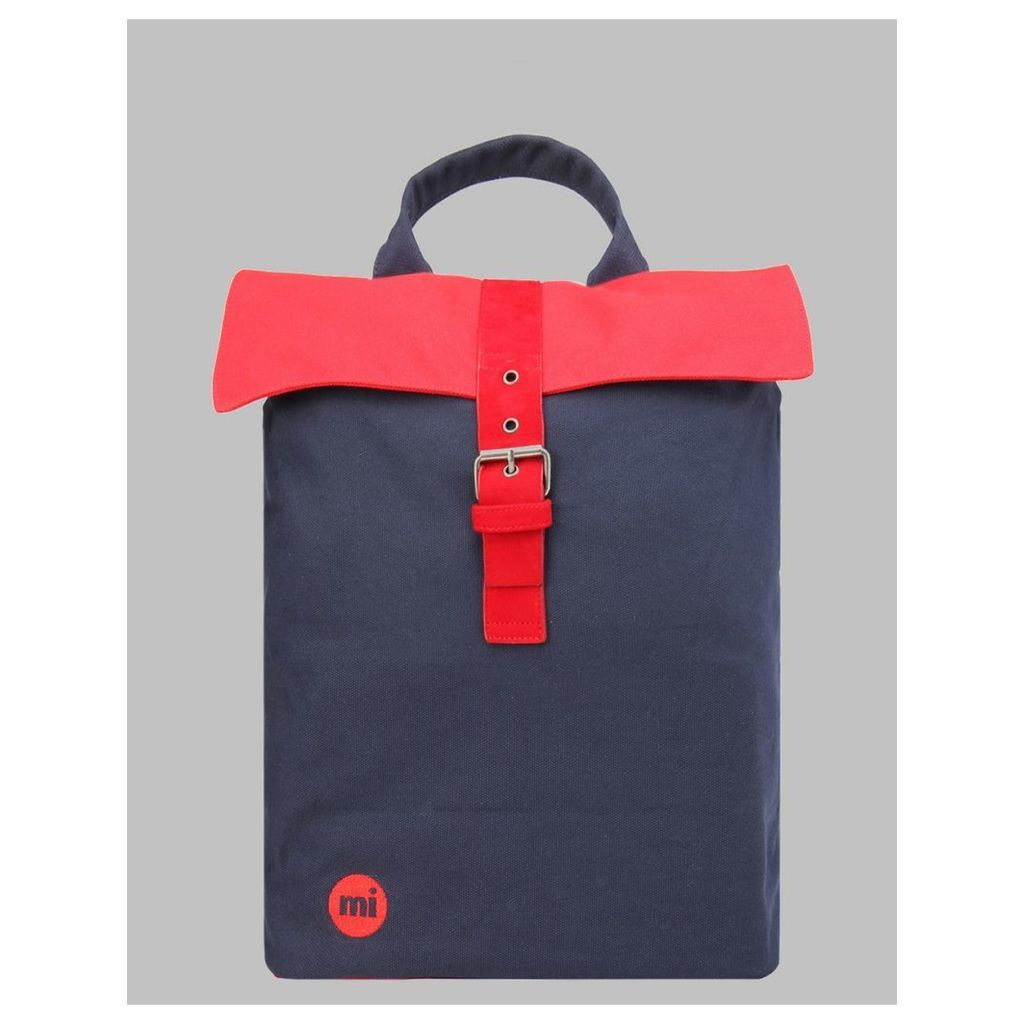 Mi-Pac Tonal Canvas Day Pack - Navy/Red (One Size Only)