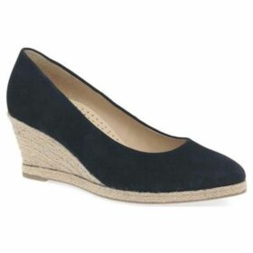 Gabor  Paisley Womens High Heeled Espadrilles  women's Espadrilles / Casual Shoes in Blue