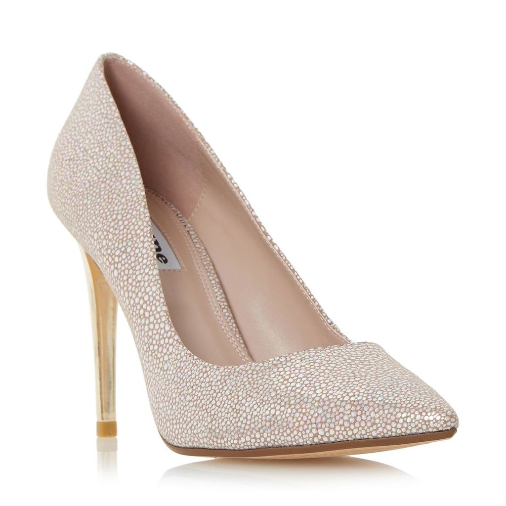 Betsee Sprayed Heel Pointed Toe Court Shoe