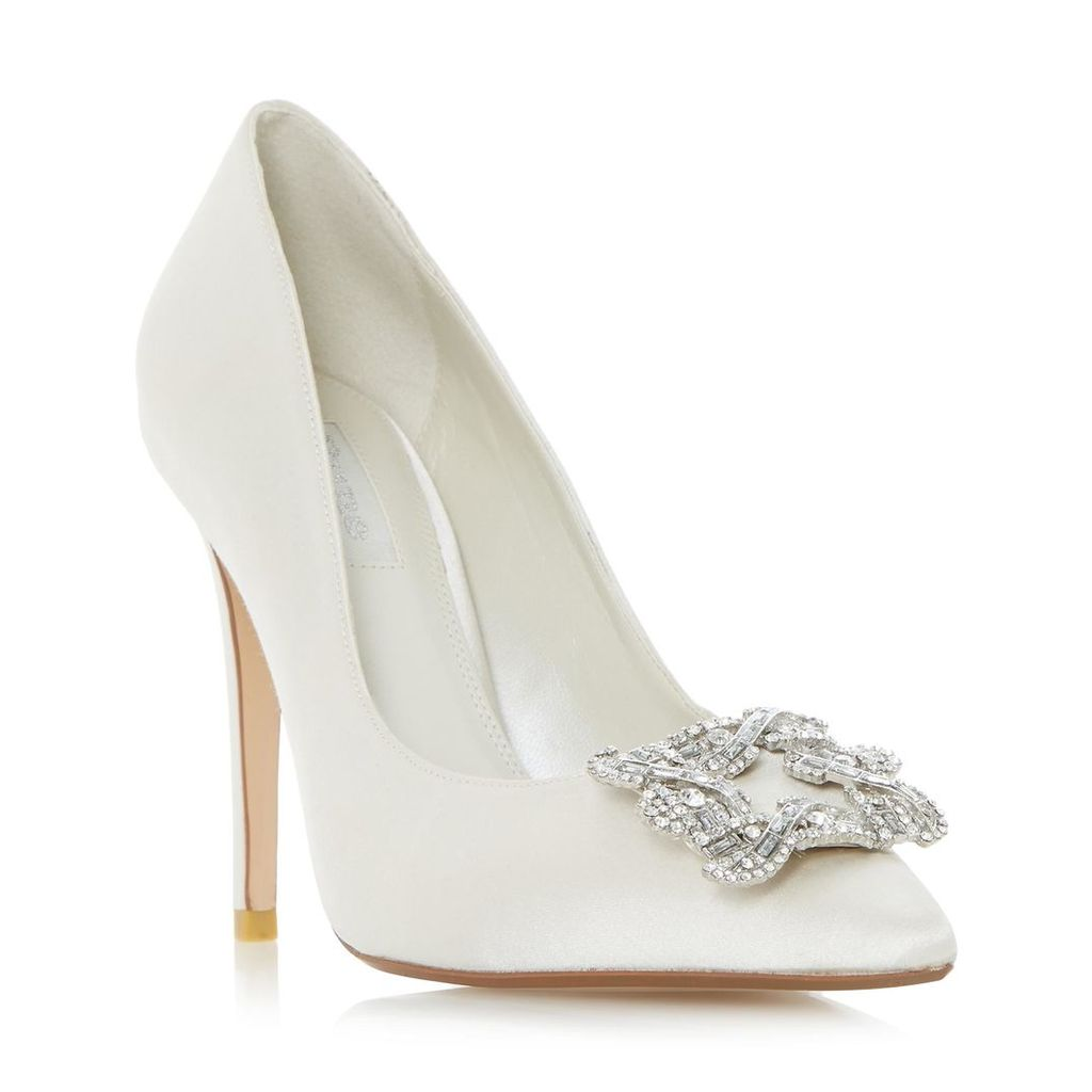 Breanna Jewelled Square Brooch Pointed Toe Court Shoe