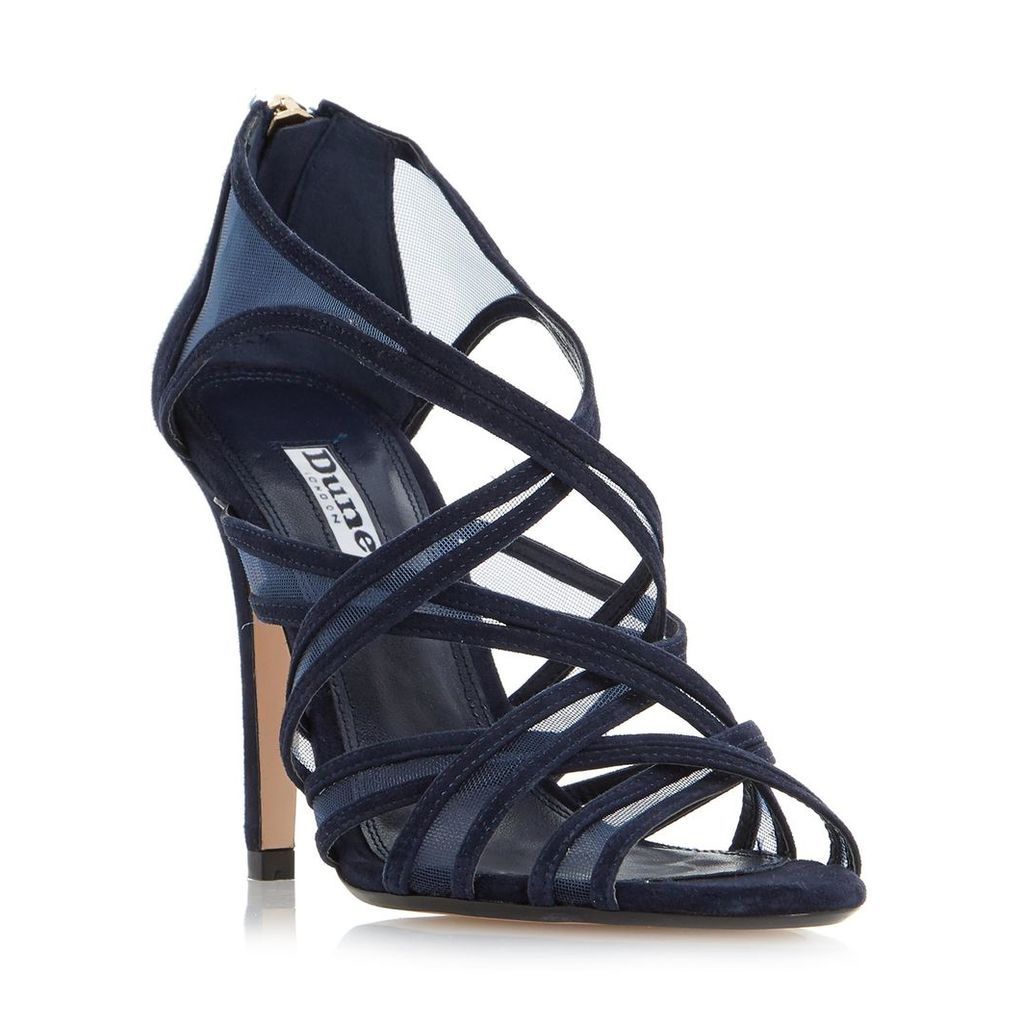 Media Caged Mesh Strappy High Heel Sandal