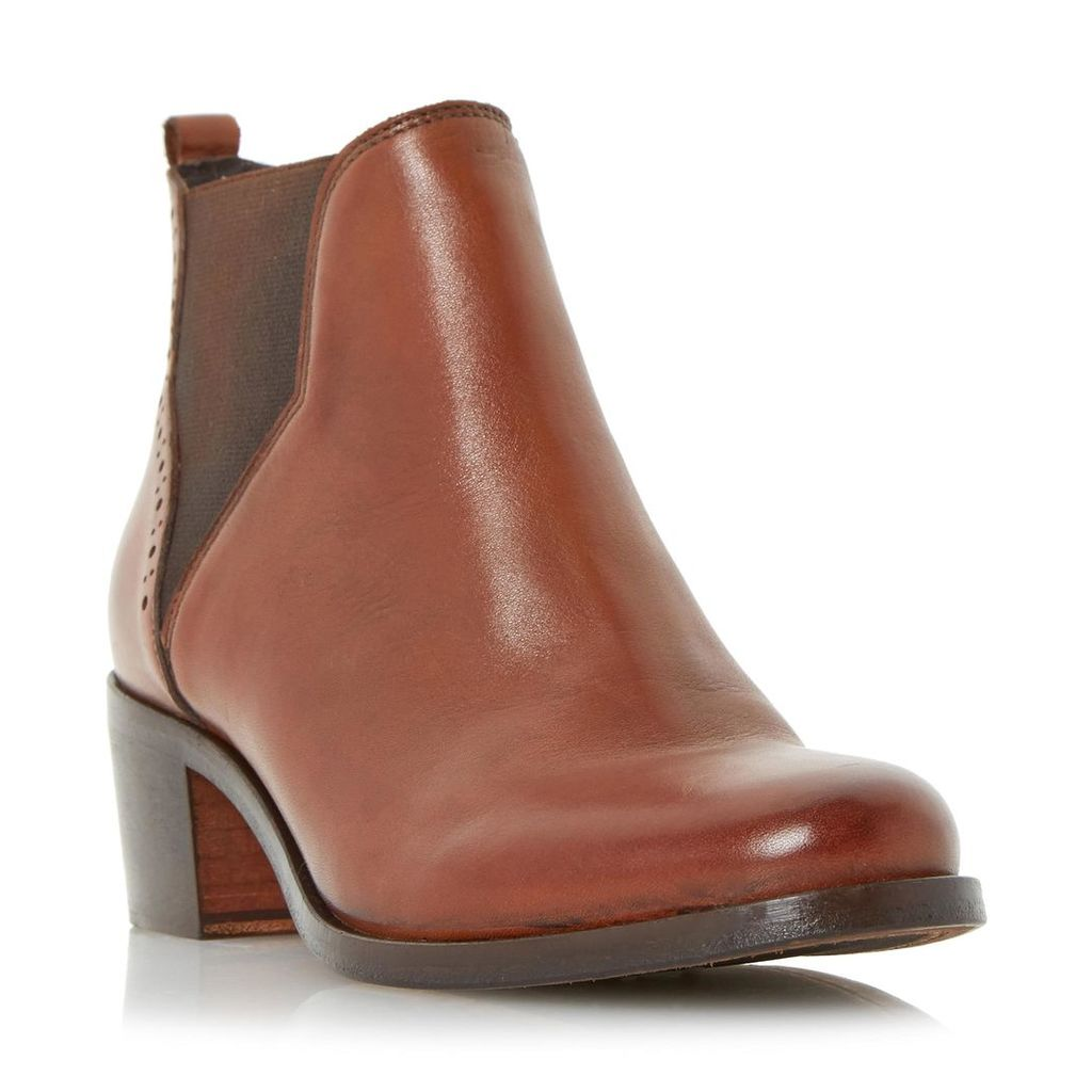 Parnell Punch Hole Detail Leather Chelsea Boot
