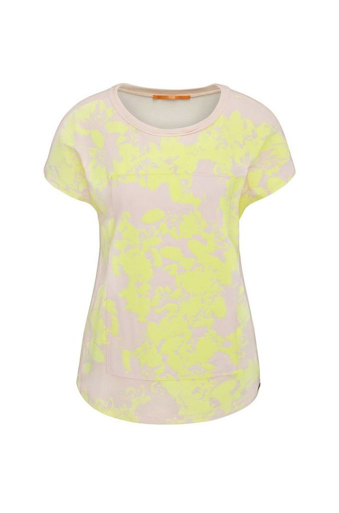 Relaxed-fit viscose t-shirt with floral print: `Tawoody`