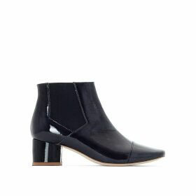Ame Patent Leather Ankle Boots