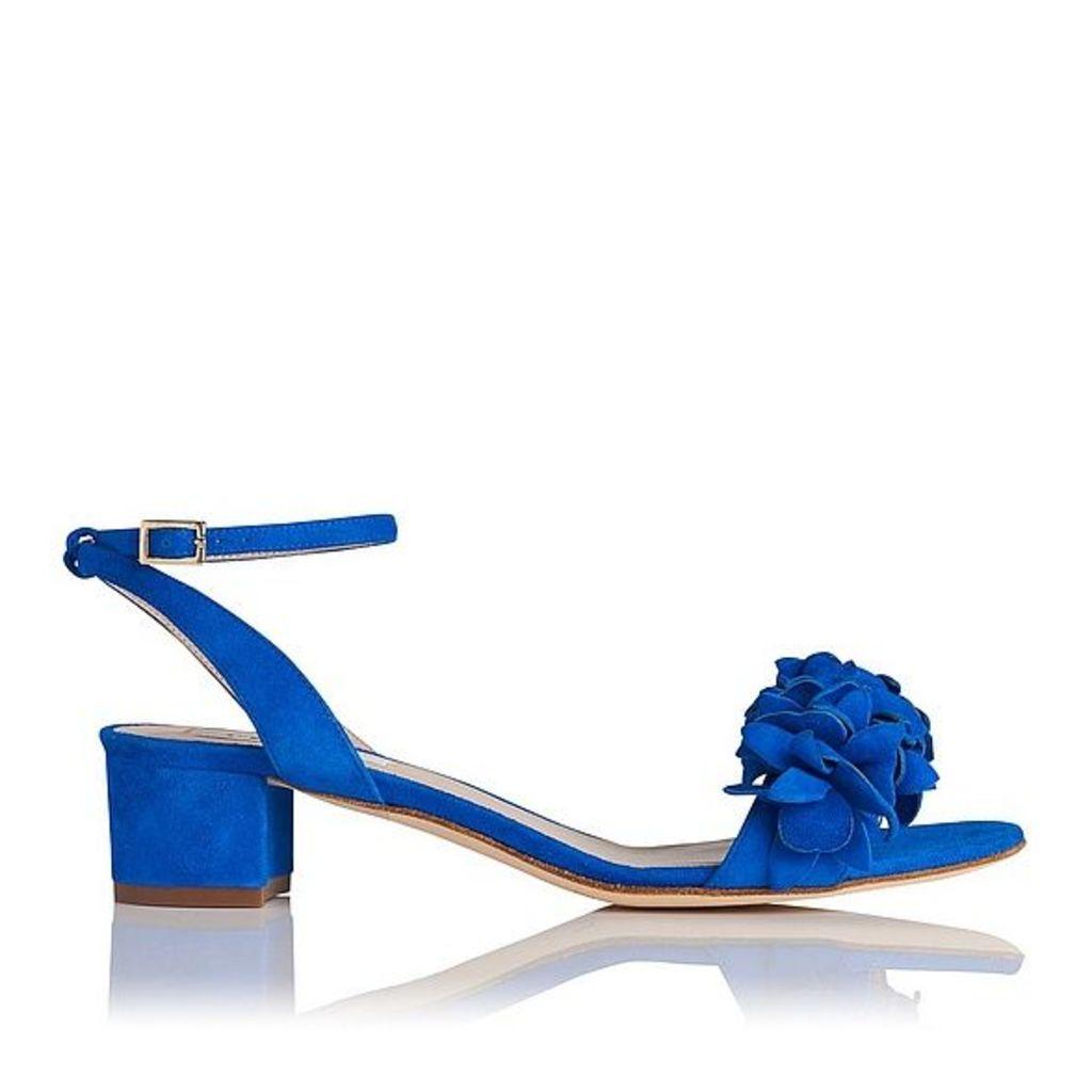 Coralie Blue Suede Formal Sandals