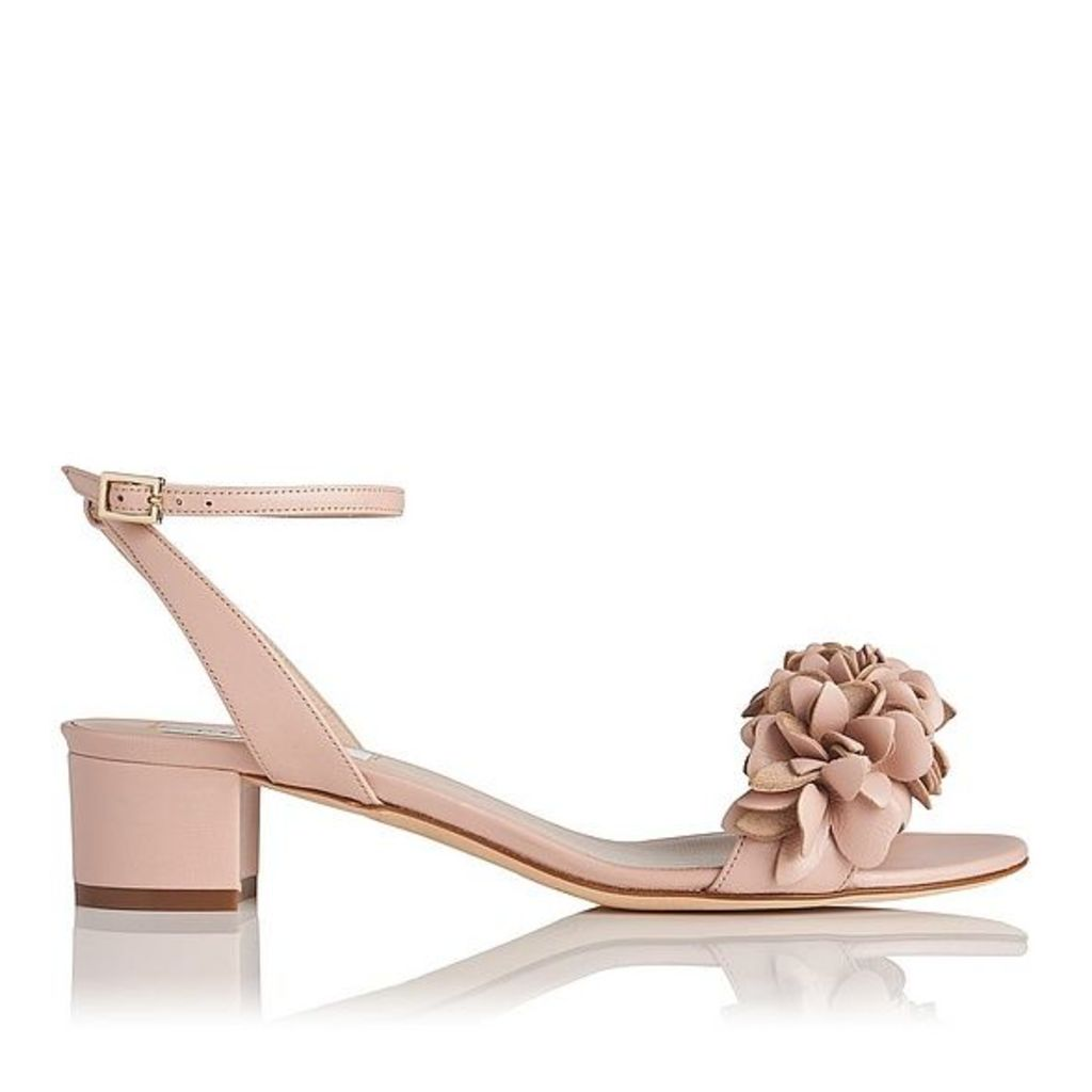 Coralie Pink Leather Formal Sandals