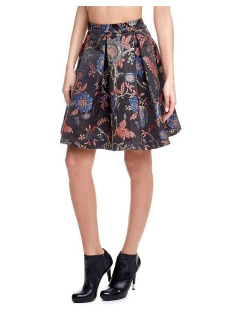 Guess Floral Skirt With Raised Pattern