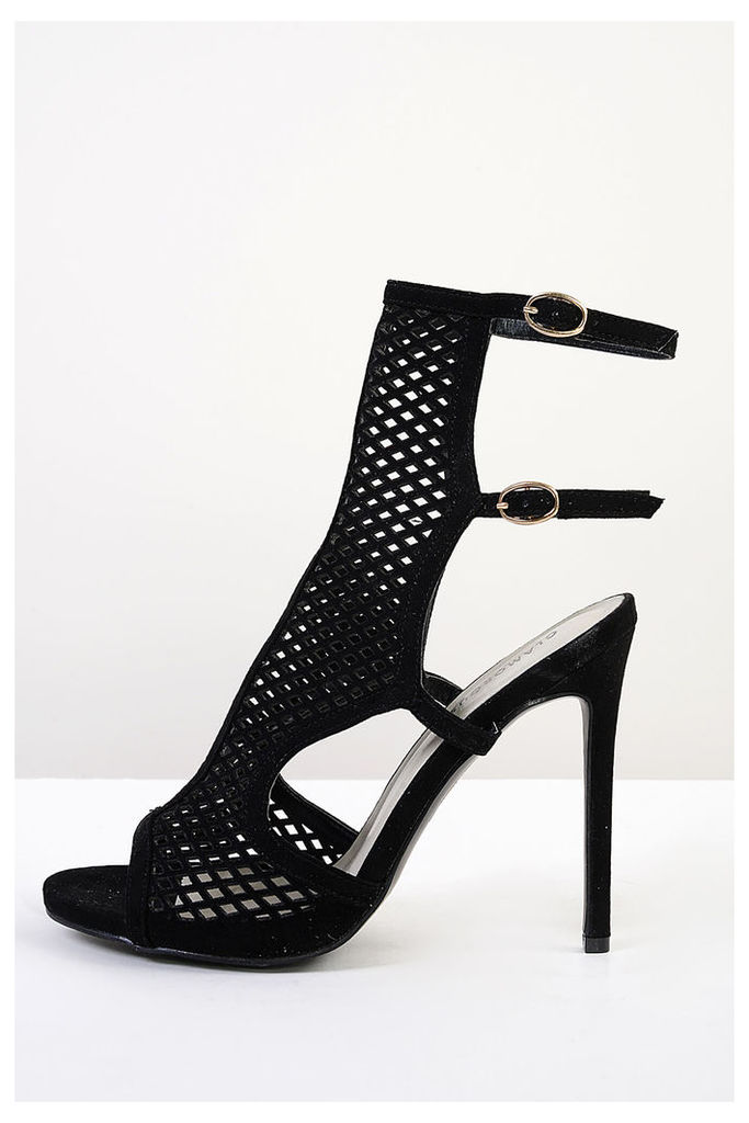 Black Cut Out Detail Heels