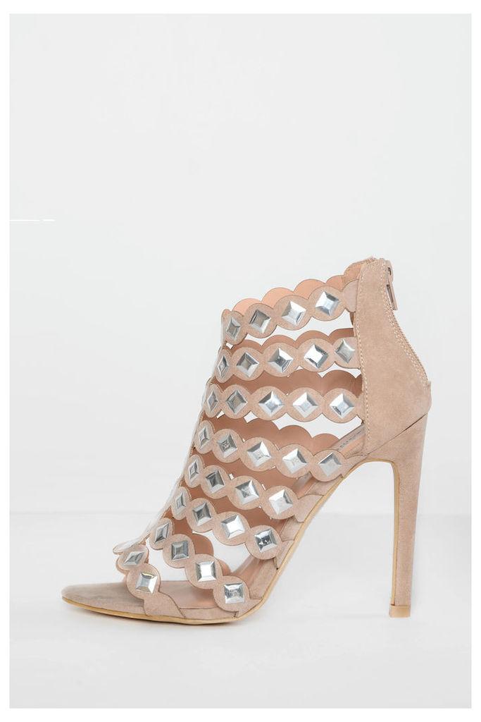 Stone Studded Heels