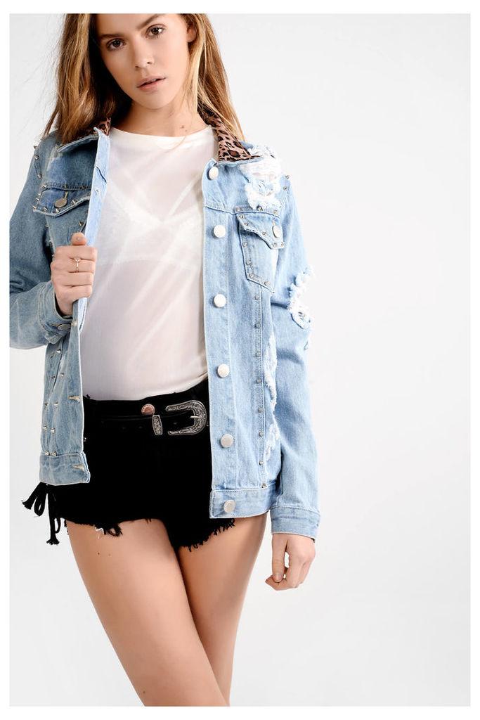 Light Blue Stone Wash Denim Jacket