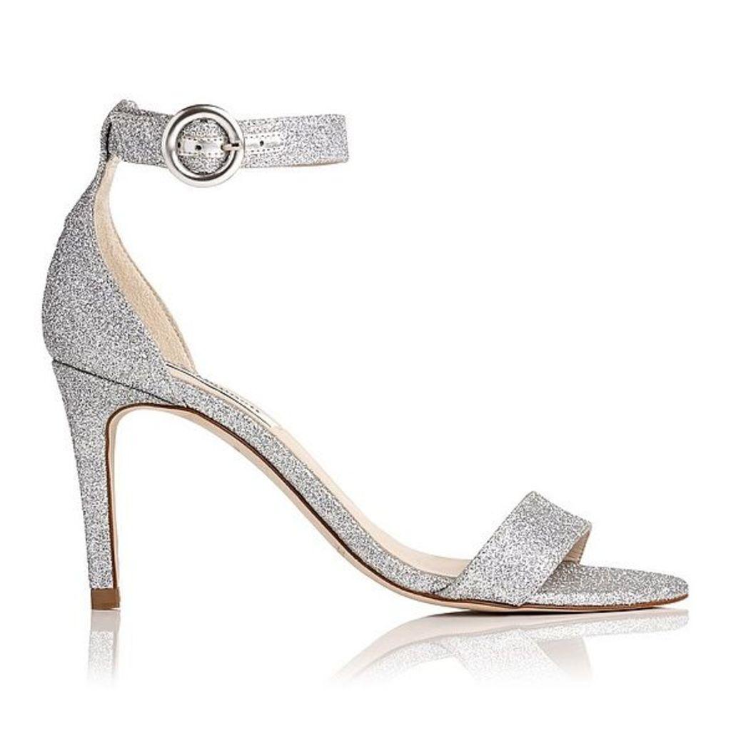 Dora Silver Glitter Formal Sandals