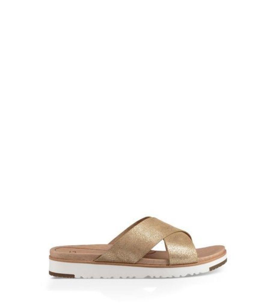 UGG Kari Metallic Womens Sandals Gold 4