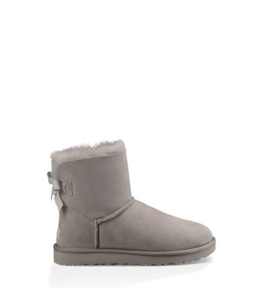 UGG Mini Bailey Bow Stripe Womens Classic Boots Seal 6