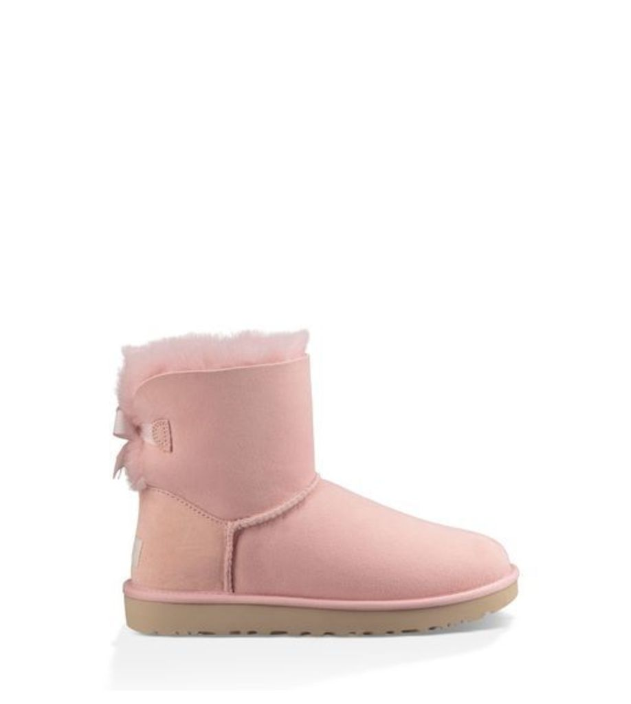 UGG Mini Bailey Bow Stripe Womens Classic Boots Petal 6