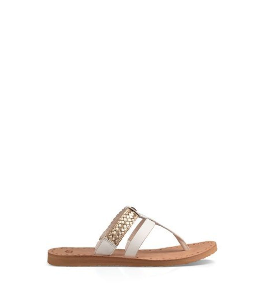 UGG Audra Womens Sandals Water Lily / Gold 10