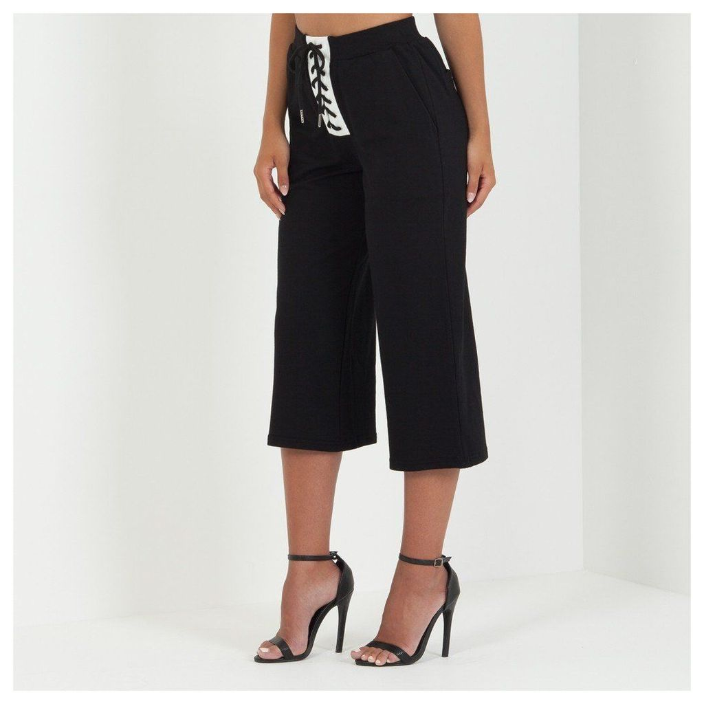 Maniere De Voir; Lace-Up Culotte - Black
