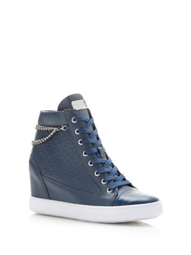 Guess Furia Leather Wedge Sneaker