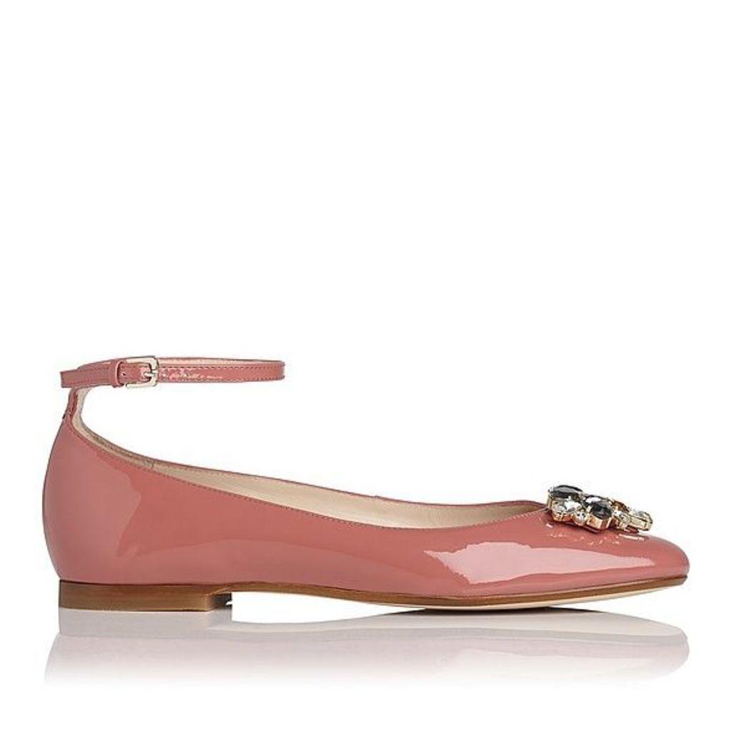 Ninon Dark Pink Patent Flats