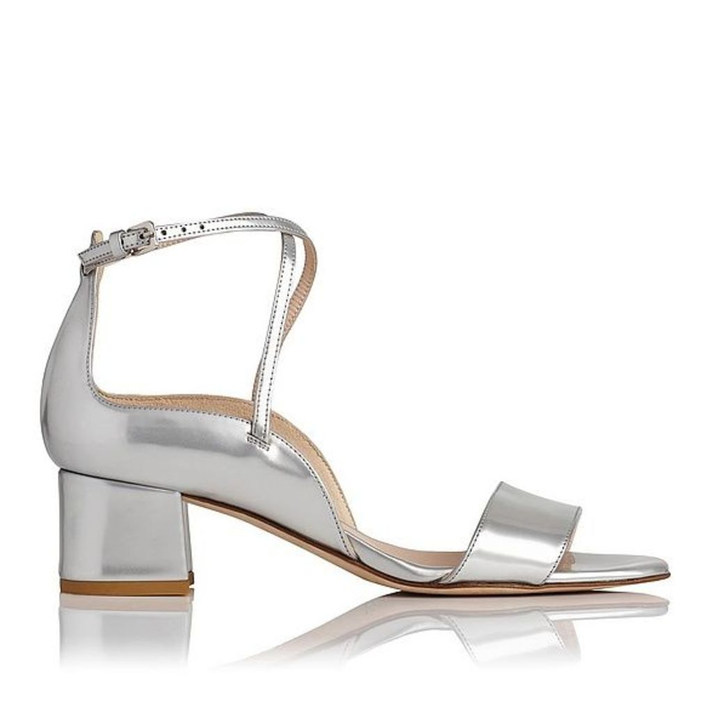 Dina Silver Leather Formal Sandals
