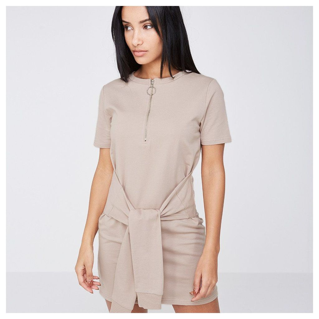 Maniere De Voir; Tie-Waist T-Shirt Dress - Blush Nude