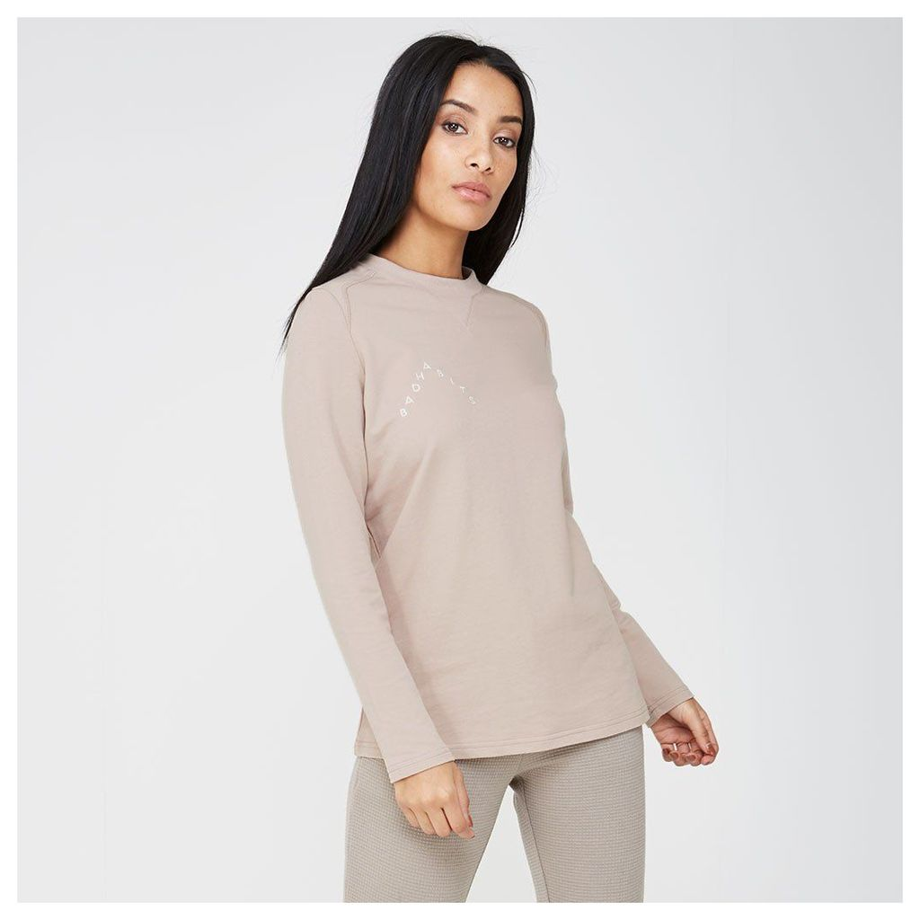 Maniere De Voir; 'Bad Habits' Long-Sleeve T-Shirt - Blush Nude