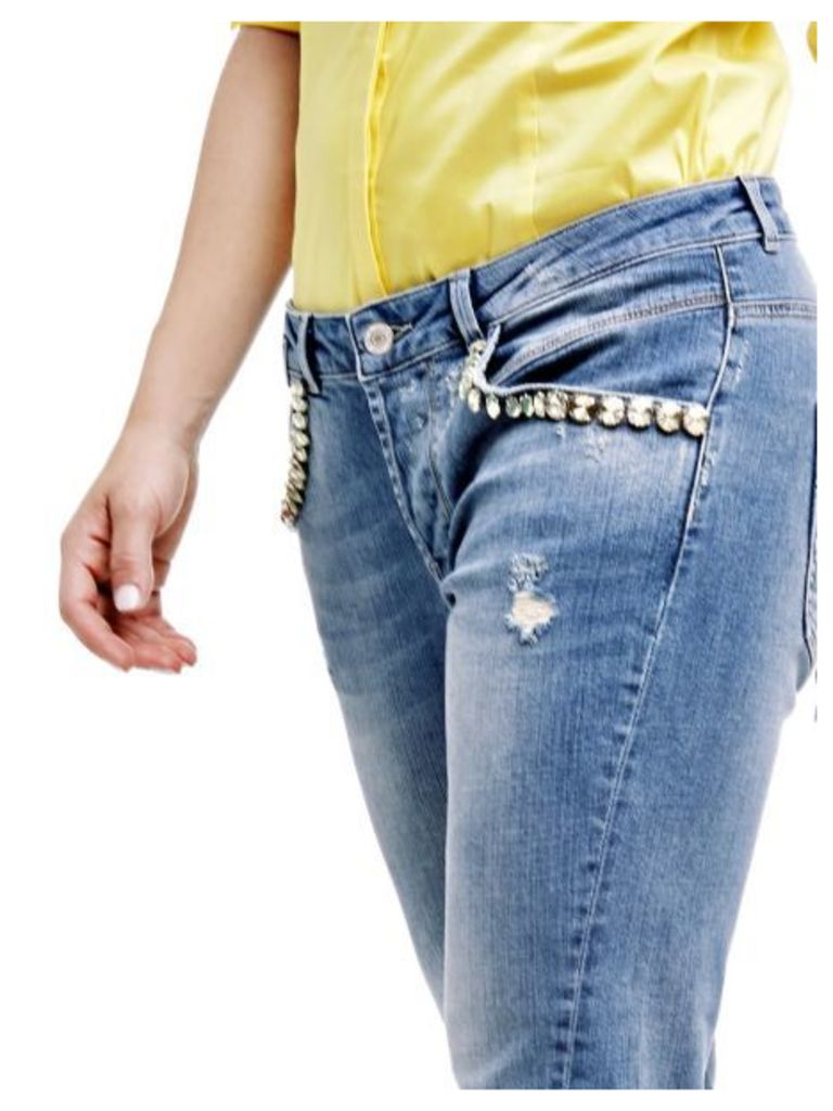 Guess Tapered Jeans With Jewel Appliqués