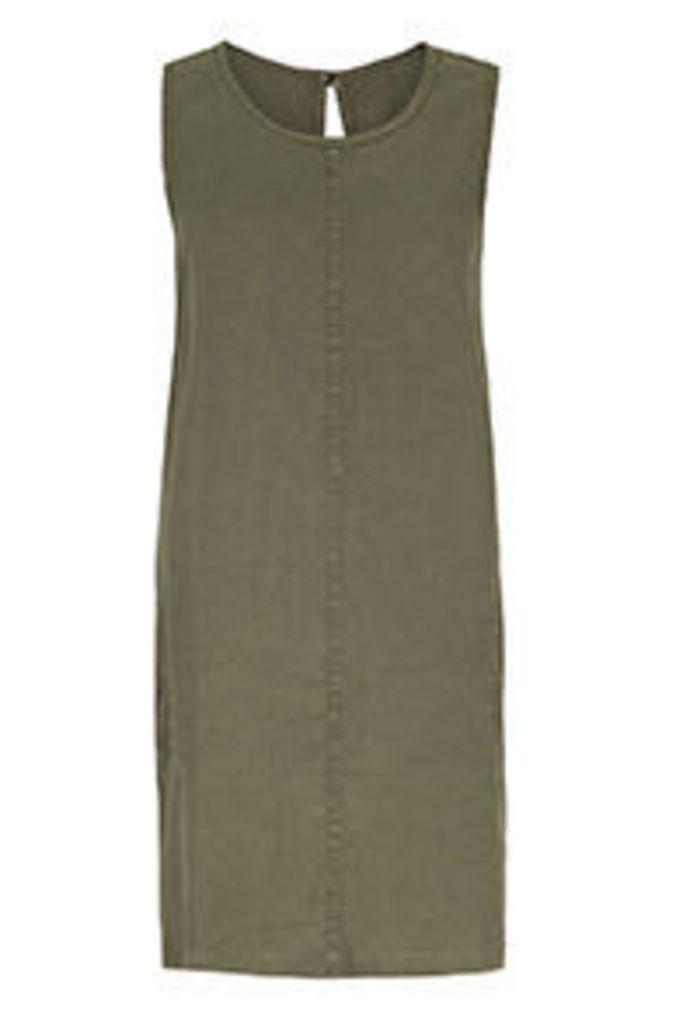 Khaki Basic Shift Dress