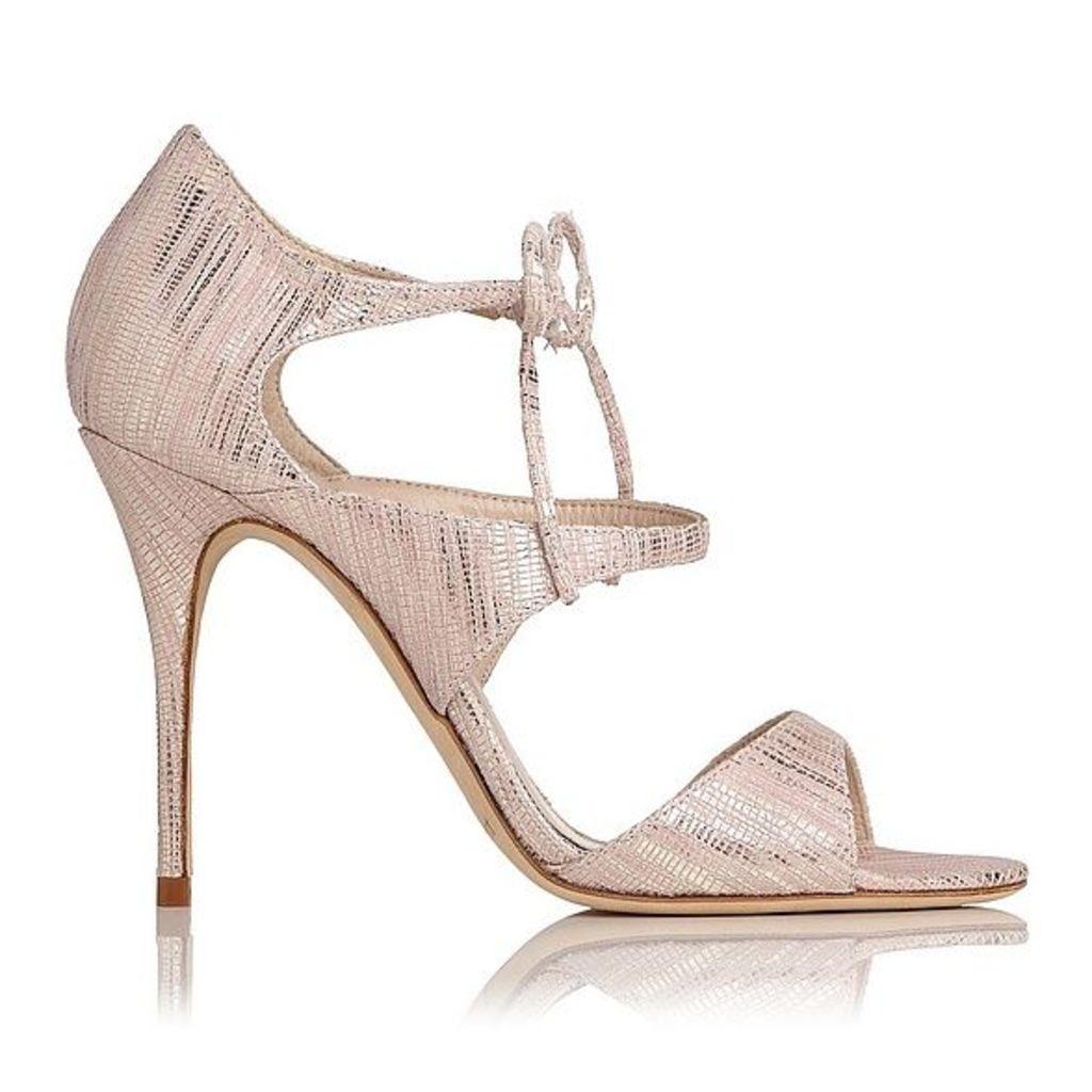 Karlie Blush Metallic Lizard Formal Sandals
