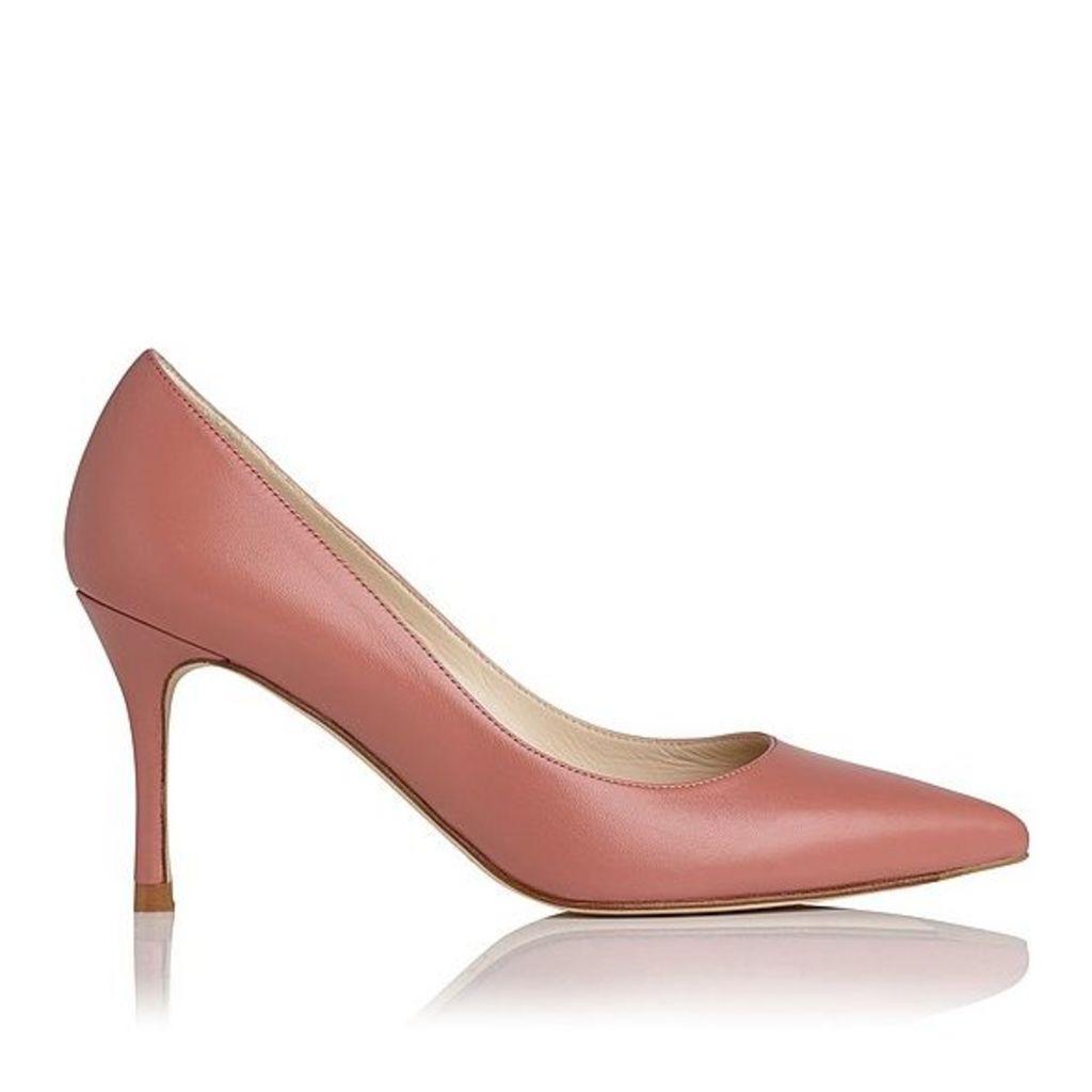 Bianca Dark Pink Leather Courts