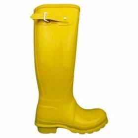 Hunter  Original Tall Gloss  women's Wellington Boots in Yellow