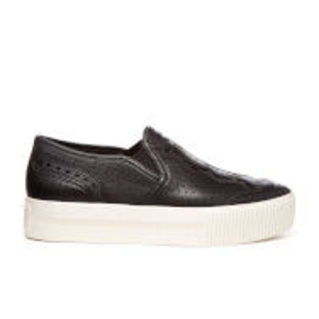 Ash Women's Kingston Nappa Calf Slip-On Trainers - Black - UK 5