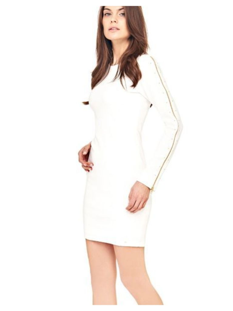 Guess Dress With Maxi Zips On The Sleeves