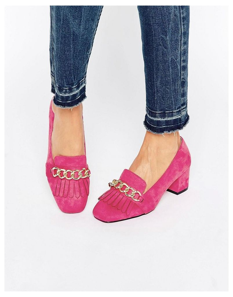 ASOS SYMBOLIC Heeled Loafers - Pink
