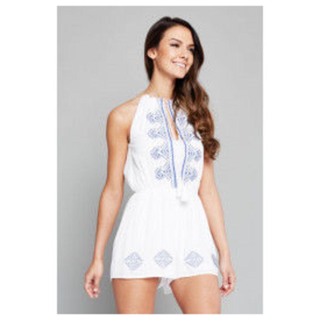 Parisian Embellished Playsuit - White